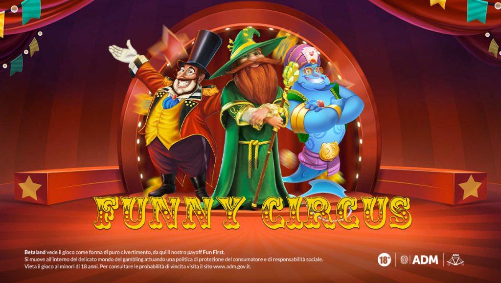 Social-FunnyCircus-promozione-bonus-casino-betaland-the-clover
