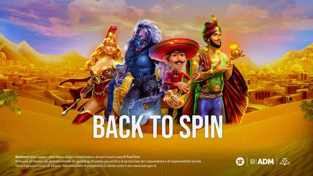 Promozione su Betaland: partecipa a Back To Spin