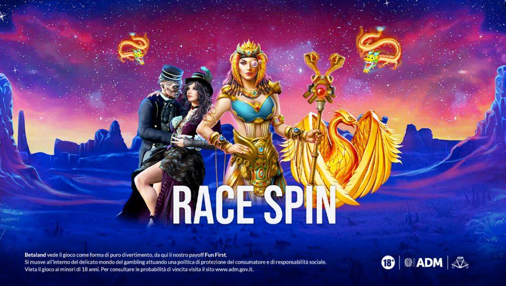 Promozione Betaland nuove slot 2021 Race Spin